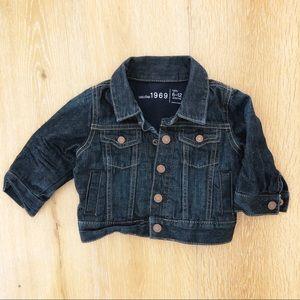 Baby Gap dark denim jacket 6-12 months